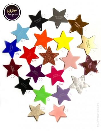 Elige el color que más te guste para el cake topper en forma de estrella