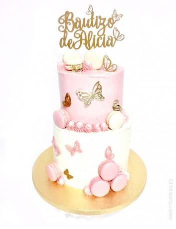cake topper bautizo, adorno para tartas de comunión personalizado con el nombre del niño, a elegir entre muchos colores