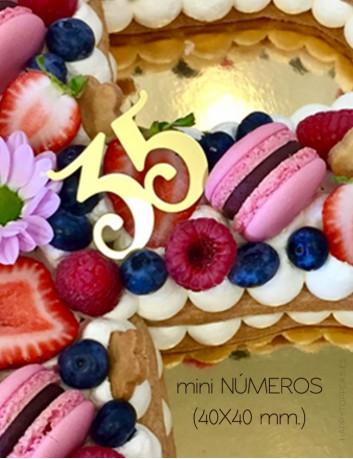 Número para la tarta de cumpleaños, decora cupcakes con nuestros números en arílico personalizados.