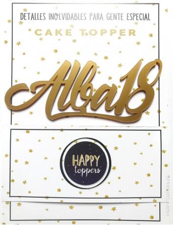 cake topper para sorpresa de cumpleaños. Decora salón de fiestas infantiles. Cumple 18 años-