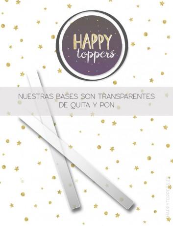 Cake topper aniversario personalizado con número. regalo original para aniversarios de boda, bodas de plata, bodas de oro.