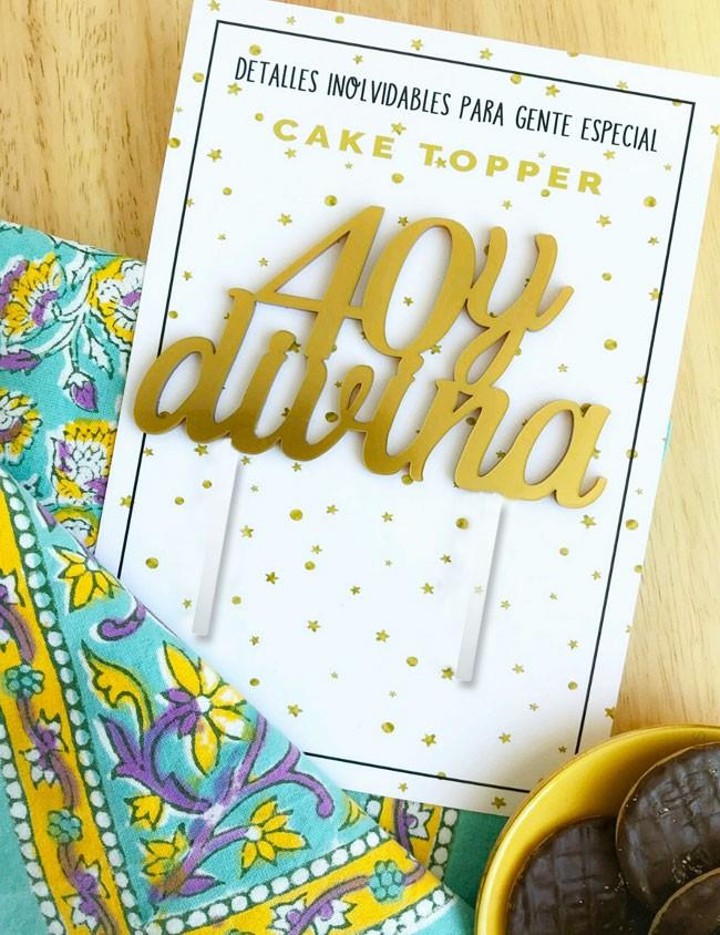 cake topper happy birthday, adorno tarta cumple 40 años, pastel 40 cumpleaños