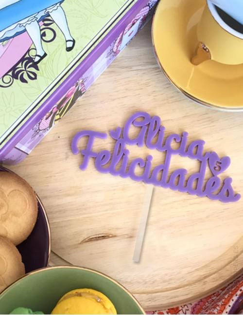 decora la tarta de cumpleaños con tu nombre personalizado- Cartel para tarta de cumpleaños en acrílico.