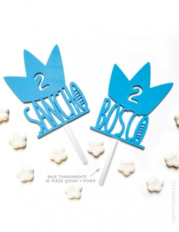 carteles para decorar cumpleaños con tu nombre y años. Color azul, puedes elegir entre muchos colores.