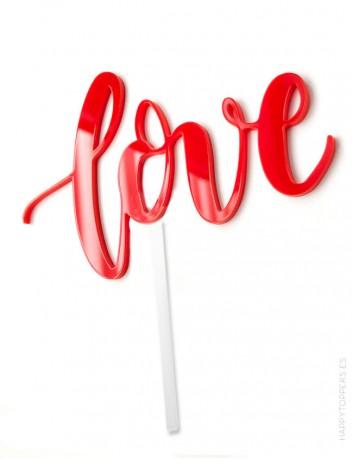 regalo para el dia de los enamorados, letrero love en acrílico.
