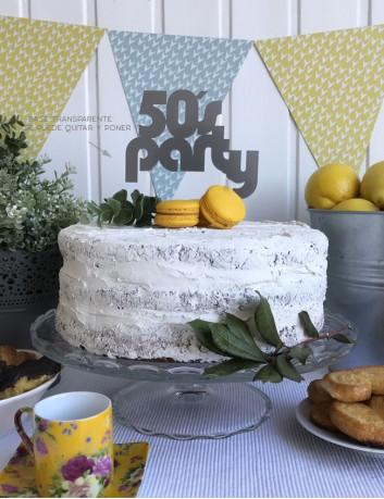 Cake topper para la tarta de cumpleaños. Elige el color que más te guste.