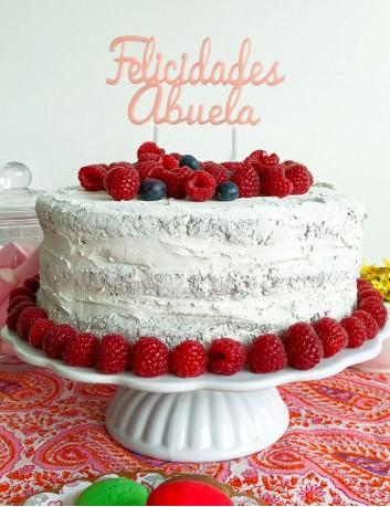 Cake topper cumpleaños abuela. Regalo original cumpleaños familia. Cake topper para adornar tartas