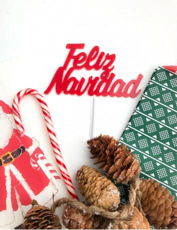 cake topper feliz navidad ❤️adorno navideño christmas decora tu vida y tu hogar en navidad