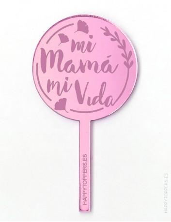 cake-topper-personalizado-regalo-para-mama-decora-postre-mamá-rosa-espejo