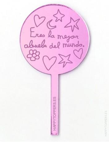 cake-topper-mini-la-mejor-abuela-decoracion-fiestas-rosa-espejo-varias-formas