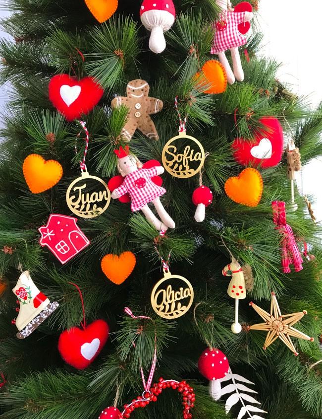 BOLAS NAVIDAD CON NOMBRE ❤️ Navidad son adornos personalizados