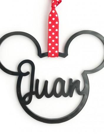 Bolas de Navidad personalizadas con forma de Mickey Mouse... regala ideas originales