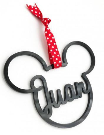 Bolas de Navidad con nombre en forma de Mickey mouse