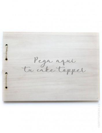 portada y contraportada de madera para hacer un libro de recuerdos, álbum de fotos, libro de firmas, huellas...