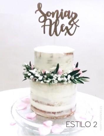 wedding cake topper para adorna el pastel de boda estilo vintage. Bodas vintage con encanto.