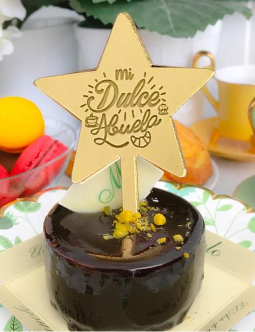 cake topper dorado en forma de estrella mi dulce abuela regalos para abuelas personalizados
