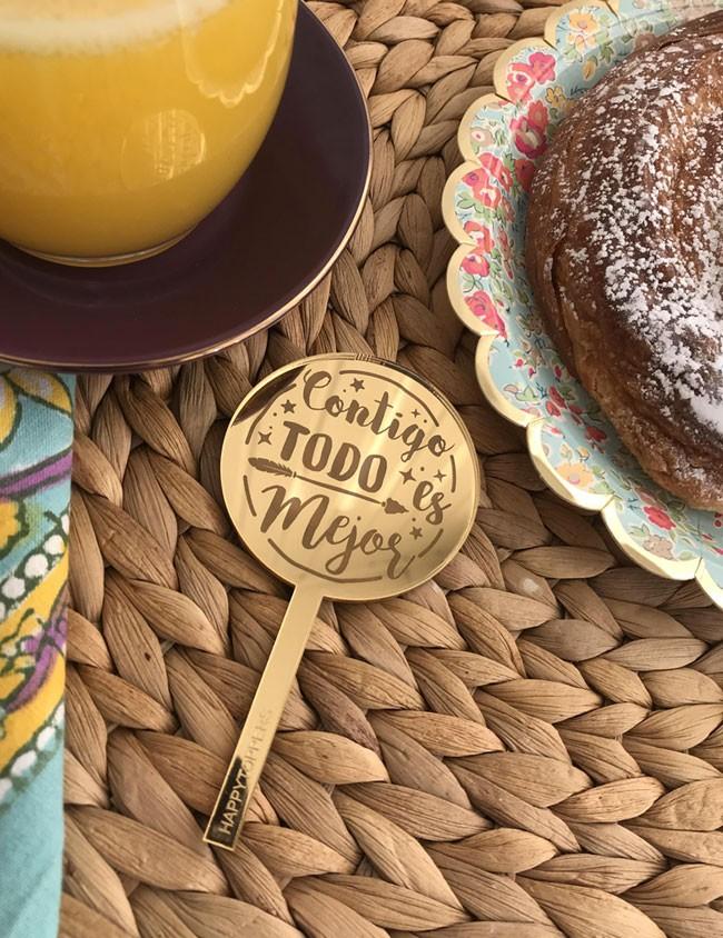 cake toppers personalizados regalo para el dia de los enamorados dilo con happy mini toppers