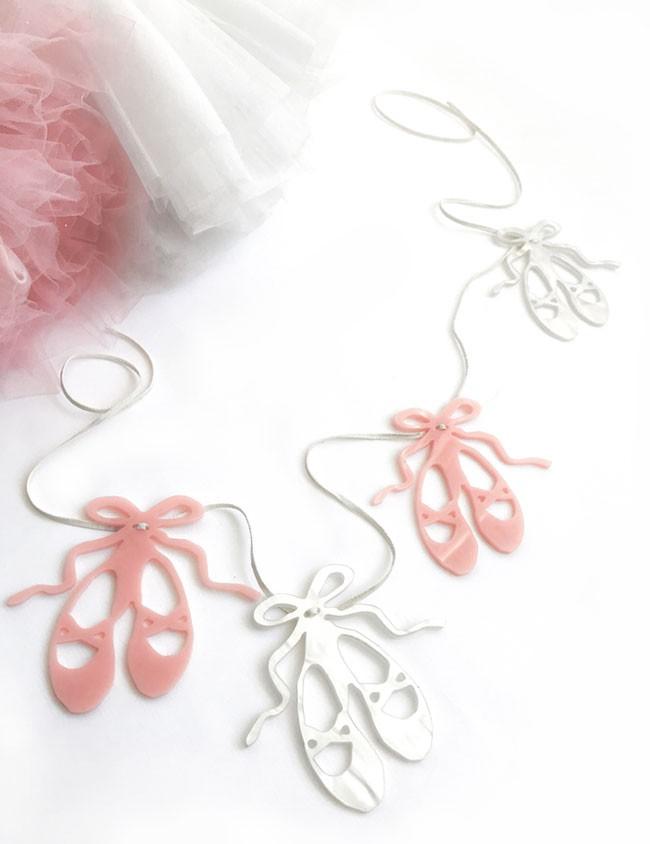 guirnalda decorativa para la habitación de las niñas ballet. Decoración pared