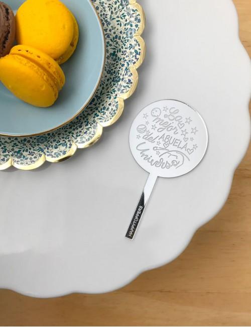 mini topper para abuela. Decoración en tartas toppers exclusivos y personalizables