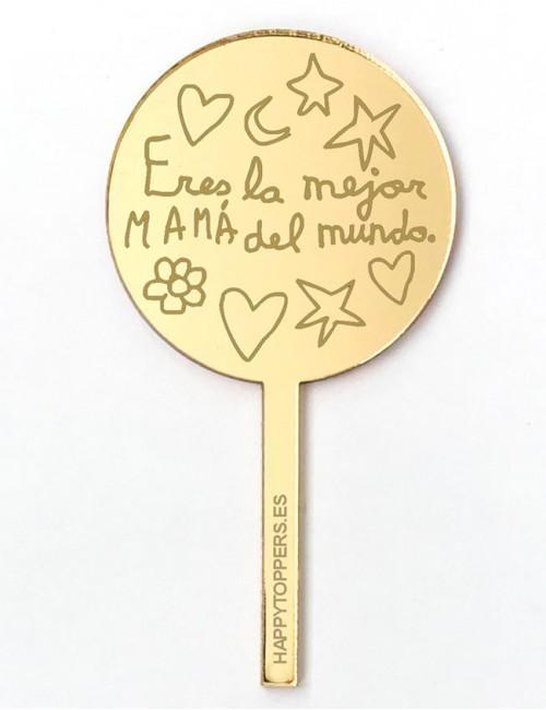 cake-topper-mini-la-mejor-mama-decoracion-fiestas-oro-espejo-varias-formas