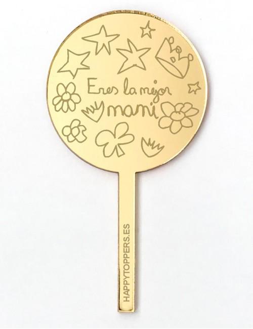 cake-topper-mini-la-mejor-mami-decoracion-fiestas-oro-plata-espejo-varias-formas