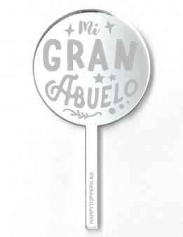 cake-topper-mini-mi gran-abuelo-decoracion-fiestas-plata-espejo-varias-formas