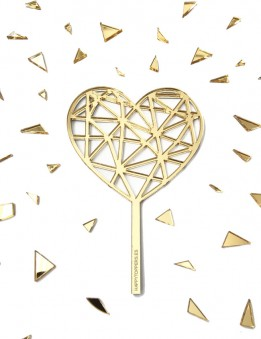 regalo original barato para el día de los enamorados, cake topper en forma de corazón para decorar tartas.