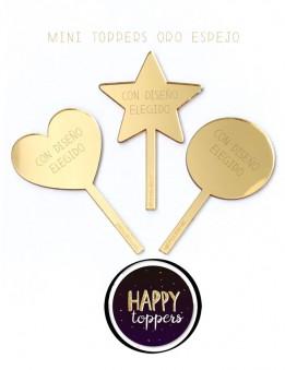 cake-topper-madrid-mini-decoracion-fiestas-regalo-abuela-oro-plata-espejo-varias-formas