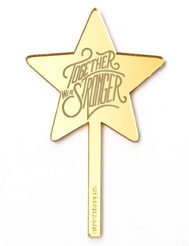 cake topper estrella dorada efecto espejo frase superación para decorar tartas enamorados taller propio Madrid