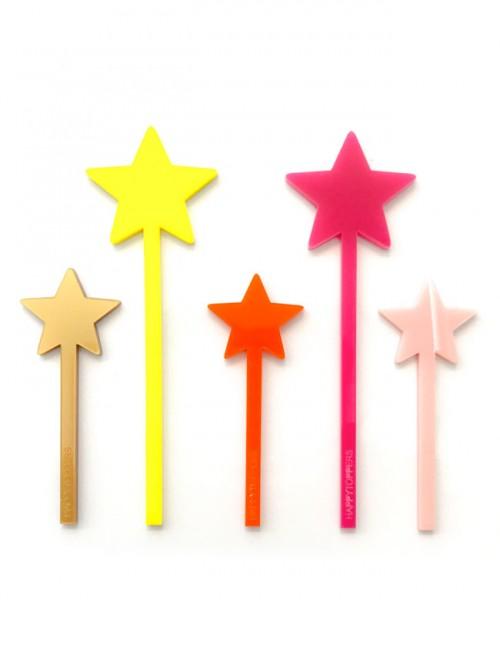decorar tartas con cinco estrellas en acrilico. Adornos de estrellas para tarta