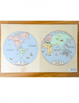 puzzle mapa mundi montessori continentes