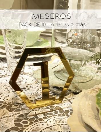 mesero para decorar y numerar las mesas de boda, meseros para mesas de comunión personalizados. Pack de 10