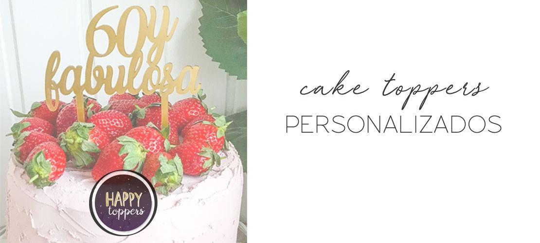Cake toppers para tartas personalizados