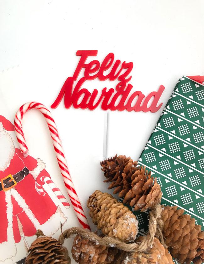 cake toppers personalizados navidad- Adorno cupcakes Navideño